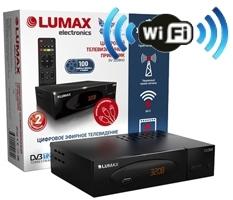Ресивер цифрового ТВ Lumax DV-3208HD Internet Wi-Fi