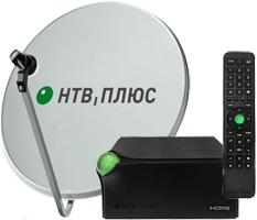 Комплект ресивер NTV Plus EKT DSD4514R с антенной 60 см