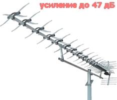 Антенна цифрового ТВ Мир Х100  New с усилителем цифрового ТВ DVB-T2