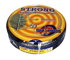 Кабель телевизионный Strong RG-6U 48% чёрный